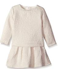 Chloe White/Gold Long Sleeve Infant/Toddler Girl's Dress Size 12M