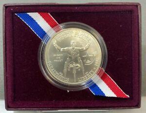 1996 D US Atlanta Centennial Olympic Games Wheelchair Athlete UNC Silver Dollar