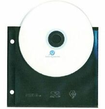 50 CD DVD Unikeep holds Open top 2 Discs Black Wallets Sleeves NEW HQ