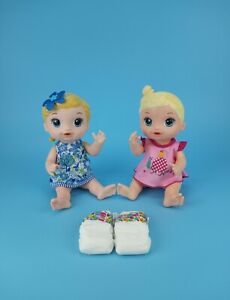 Hasbro Baby Alive Shimmer Splash Mermaid Face Paint Fairy Blonde Doll Lot 2
