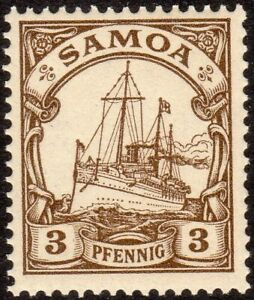 German Colonies Samoa Scott #57 MNH VF 1900 3 Pfg Yacht