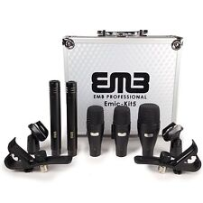EMB EMIC-KIT5 Professional Drum Set Series 7 Piece Mic Kit For Studio Recording,