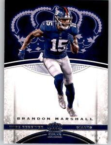 2017 Preferred Crown Royale Brandon Marshall NFL PWE Base Card Giants #67