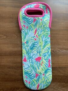 Lilly PULITZER WINE TOTE bag koozie beach tailgate cooler
