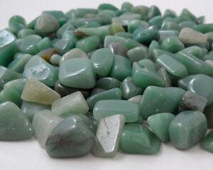 AVENTURINE GREEN 2 MEDIUM Tumbled Stones MD Crystal Healing Gem Wicca Gemstone