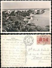 FRENCH WEST AFRICA 1956 ABIDJAN AIRPORT CANCELS on REAL PHOTO PPC DAKAR