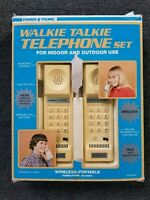 Vintage Power Tronic Walkie Talkie Telephone Set Tested and Working c1