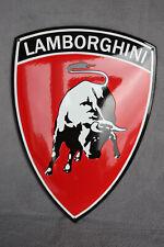 Lamborghini Wappen Enamel sign Emailschild ECHT Emaille Emblem Schild 35 x 49 cm