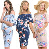Pregnant Summer Dress Women Maternity Off Shoulder Floral Casual Dresses Party