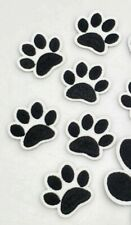"Paw Print Patch Pet Cat Kitten Dog Puppy Iron On Applique 1.30"" X 1.57"" SMALL SZ"