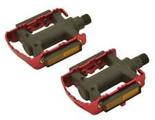 "Red ROAD MTB Steel CAGE  Pedals 9/16"" cruiser 9/16 pedal.fixie bicycle pedal"