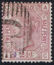 British Levant 1876 SG141 2 1/2d Rosy Mauve Pl 6 AC Fine Used in Constantinople
