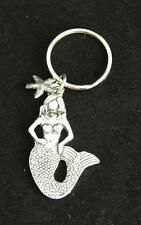 Mermaid Lead Free Pewter Keychain Purse Charm Made in Canada NWT