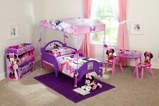Toddler Girls Bed Minnie Princess Kids Bedroom Furniture Heavy Duty Plastic Rail