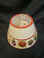 "Home Interiors ""Vegetable Trim"" Candle Shade"