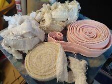 Vtg 5 Asst Fringe Cotton Tassel Trims Sewing Upholstery Lampshade 20+ Yd