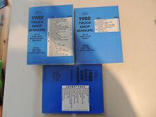 Ford Econoline Bronco F- Series Super Duty F 150 - 350 service shop manual  1988