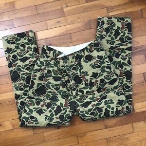 36x31 Vintage 80s Duck camo quilted hunting pants mens insulated Hunting 2e884p