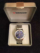 Wenger swiss blue face watch special edition ngk