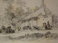 Émile LOUBON (1809-1863) GRAVURE EAU FORTE PAYSAGE AIX PROVENCE MARSEILLE 1850 b