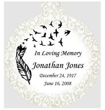 christmas in heaven memorial ornament personalized with your info