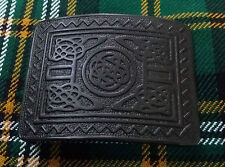 Men's Highland Kilt Belt Buckle Celtic Knot Work Black/Celtic Belt Buckle/Kilts