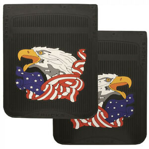 "Patriotic American Eagle 24"" x 24"" Fiberglass Rubber Semi Truck Mud Flaps-Pair"