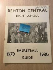 1979-1980 Benton Central High School Oxford Indiana Basketball Guide Historical