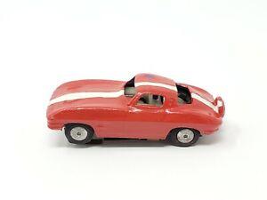 Vintage Red Lionel Slot Car Corvette Stingray Kid Painted HO Scale