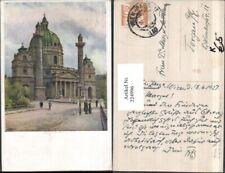 224996,Künstler AK Ernst Graner Wien Wieden Karlskirche Kirche