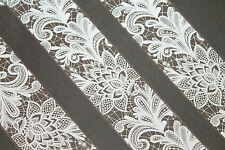 """OMG Laces in white"" transfer nail foil design #19 - 1 meter"