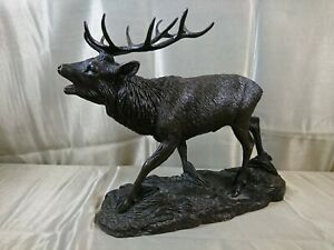 Heredities Bronzed Resin Stag By Tom Mackie Limited Edition 111 / 500