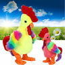Funny Colorful Soft Plush Toy Scream Chicken Song Walk Shake Head Kids Toy E
