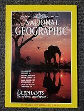 National Geographic magazine May 1991 Elephants, Chicago, Bhutan, Ancient Iraq
