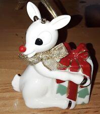 LENOX 2002 RUDOLPH Red Nose Christmas Ornament w Box