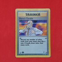 Blaine's Gamble 121/132 1st Edition Rare Gym Heroes Non Holo WOTC Pokemon Card