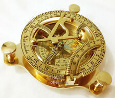 "Vintage Maritime West London Antique Brass Sundial Compass 4"" Nautical Decor new"
