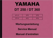 Yamaha DT 250 360 RT 1 2 3 F Reparaturanleitung Werkstatthandbuch Repair Manual