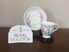 Royal Doulton BELL HEATHER SCALLOPED Footed Demitasse Cup & Saucer Set(s)