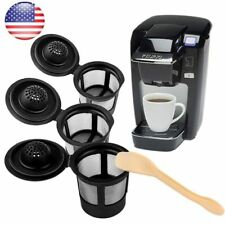 3PCS K Cups Reusable Refillable Coffee Filter Pod For Keurig one Coffee Spoon US