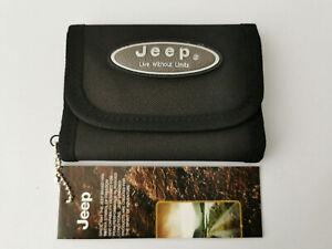 Mens Nylon Wallet Trifold Jeep Black