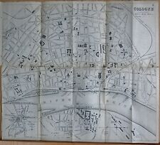 1890 CA Antigua ciudad plan-Bradshaw-Alemania-Colonia