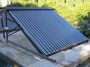 SEA Solar Water Heater System 18 Heat Pipe Vacuum Tube W/Pressurized Water Tank