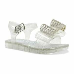 Lelly Kelly Infants Bow Jelly Sandals (Silver)