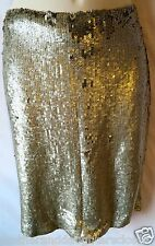 $966 NWT NEW Yigal Azrouel 8 10 M L dress skirt silver sequin party cocktail