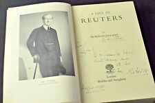 A Life in Reuters, Sir Roderick Jones 1951 1st Ed HB SIGNED