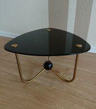 50er Design Nierentisch Beistelltisch Glas schwarz Dreieck vintage Art Deco