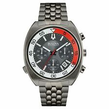Bulova Accutron II Men's 98B253 Snorkel UHF Quartz Grey Stainless Steel Watch