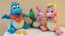 Playskool Lot of 3 Dragon Tales Plush Toys - Cassie, Ord, Zak & Wheezy