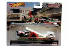 2020 Hot Wheels Car Culture Team Transport #20 2016 Ford GT Race & Ford C-800